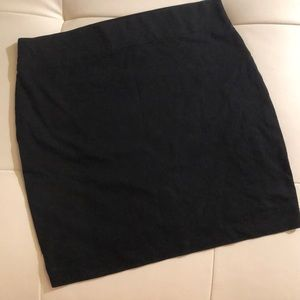 Betsey Johnson fitted bodycon pencil skirt black s